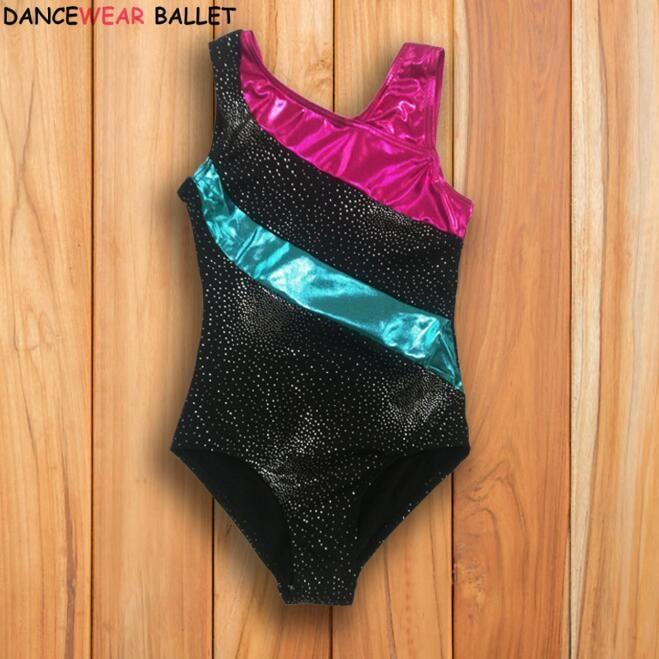 Toddler & Teens Girls Dance/Ballet/Skate Rhythmic Gymnastics Leotard/Unitards Shiny Sequin Kids Children Dancewear