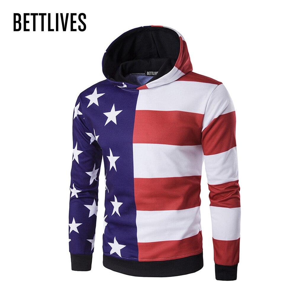Popular Hoodies Men Stripe American Flag-Buy Cheap Hoodies Men ...