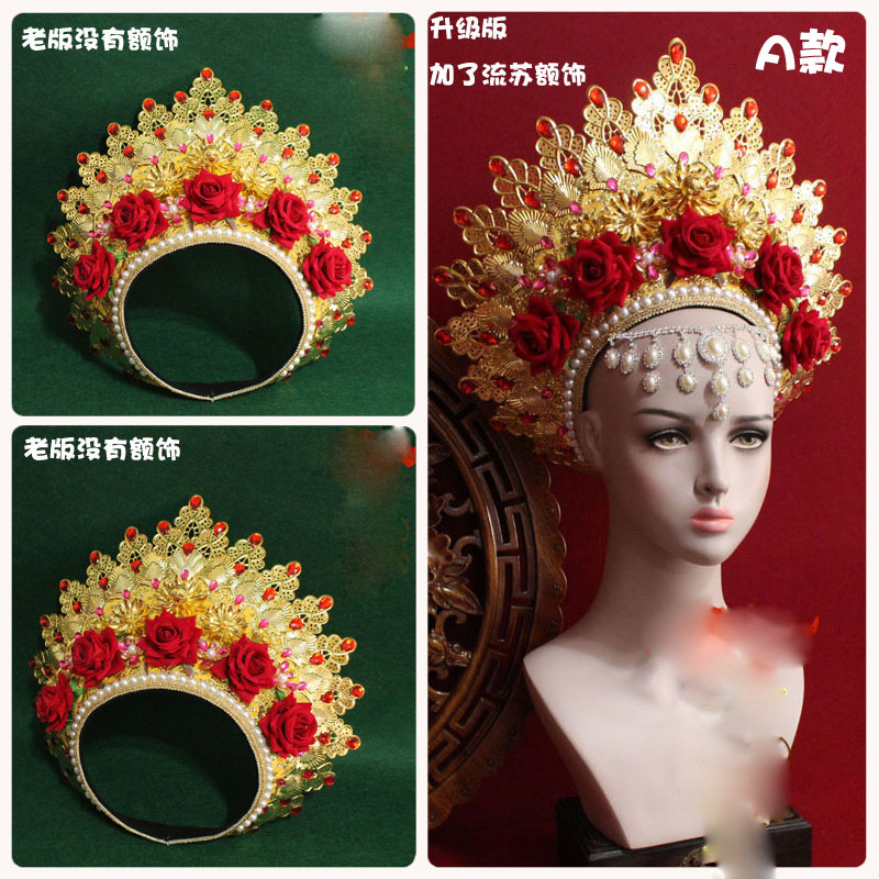 Image 5 - 8 Designs Top Quality Thailand Royal Palace Princess Crown Chinese TV Play Fighter of The Destiny Queen Crown Ze Tian JiWomens Hair Accessories   -