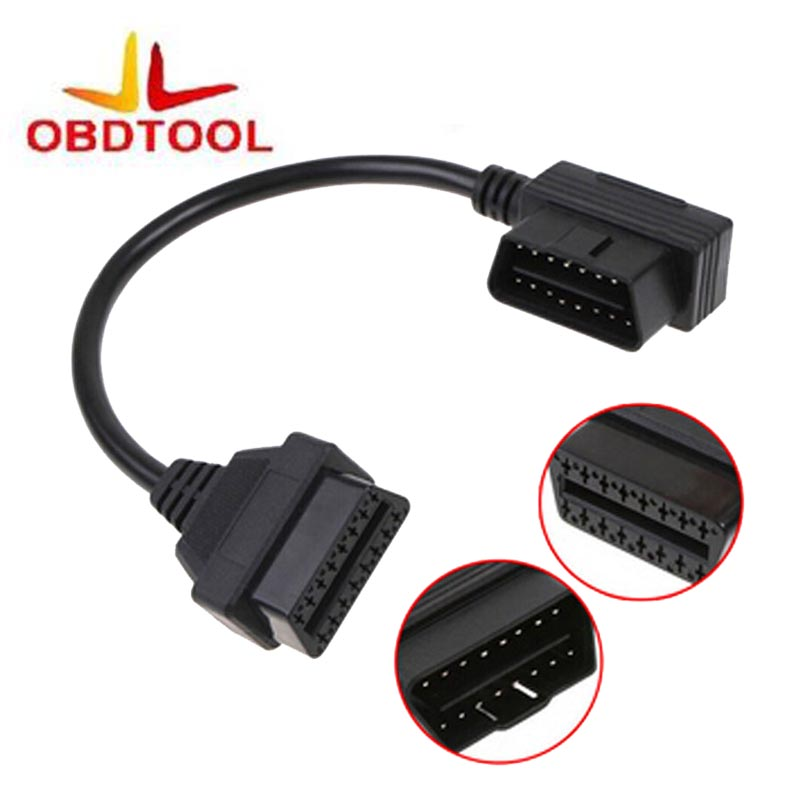 30 CM OBDII OBD2 elm 327 extension câble 16 Broches Extension De Diagnostic Scanner Câble Connecteur 1 Pcs