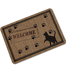 1pcs cartoon print rubber door mat nonslip floor mat hallway kitchen living room carpet