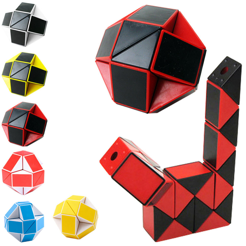 YKLWorld Newest Funny Professional Speed Magic Snake Shape Toys Game Twist Cube Puzzle Toys Gift For Kids 6 Colors Hot -45 yj yongjun moyu yuhu megaminx magic cube speed puzzle cubes kids toys educational toy