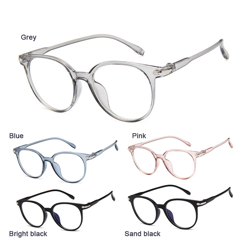 Newly Women Spectacle Optical Frame Glasses Clear Lens Lady Vintage Computer Anti-Radiation Eyeglasses