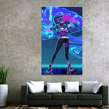 Home Decor Modular Canvas Picture 1 Piece Akali K/DA League of Legends LOL Game Painting Poster Wall For Wholesale