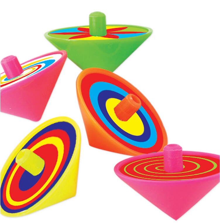Retro Top Toys : Pcs plastic spinning top kids toys retro goodie bags