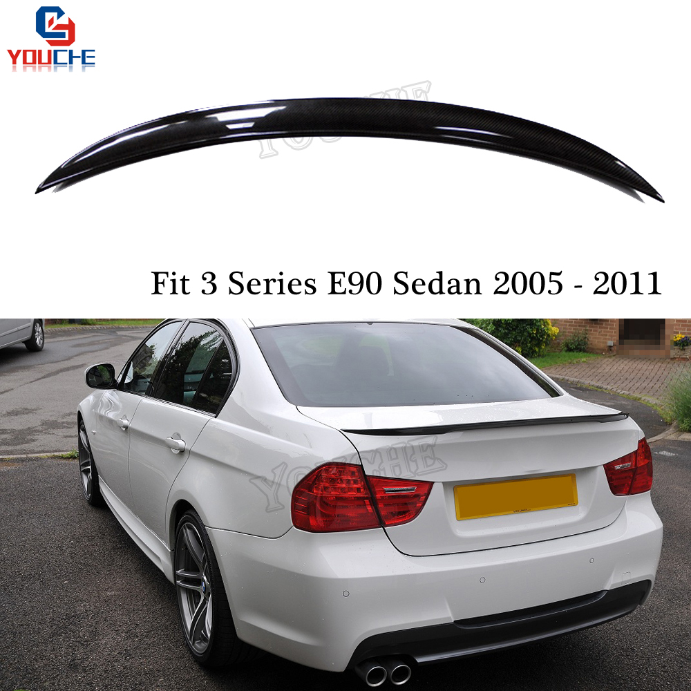 E90 Carbon Fiber Rear Spoiler Trunk Wing For BMW E90 M3 4