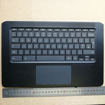 UK layout new laptop keyboard with touchpad palmrest for  HP Chromebook 14 G5 TPN-Q204