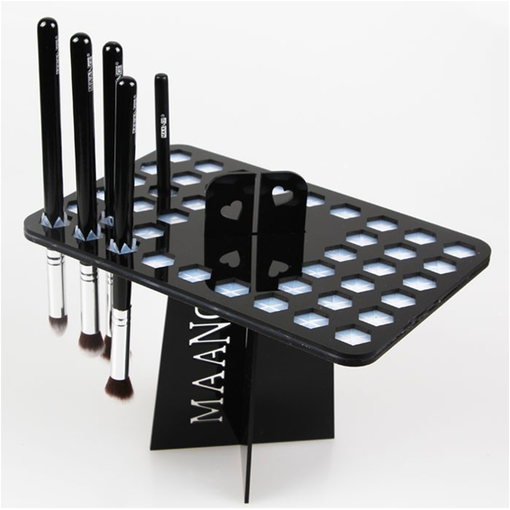 2017 Pro 14/26/42 Holes Acrylic Makeup Brushes Holder Stand Collapsible Air Drying Makeup Brush Organizing Rack Cosmetic Holder cheap sale hydration water bladder bag cleaning tube hose sucker brushes drying rack set