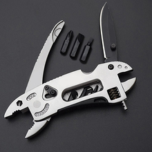 Folding Jaw tool kit Wrench mini portable outdoor Screwdriver Survival plier Knife