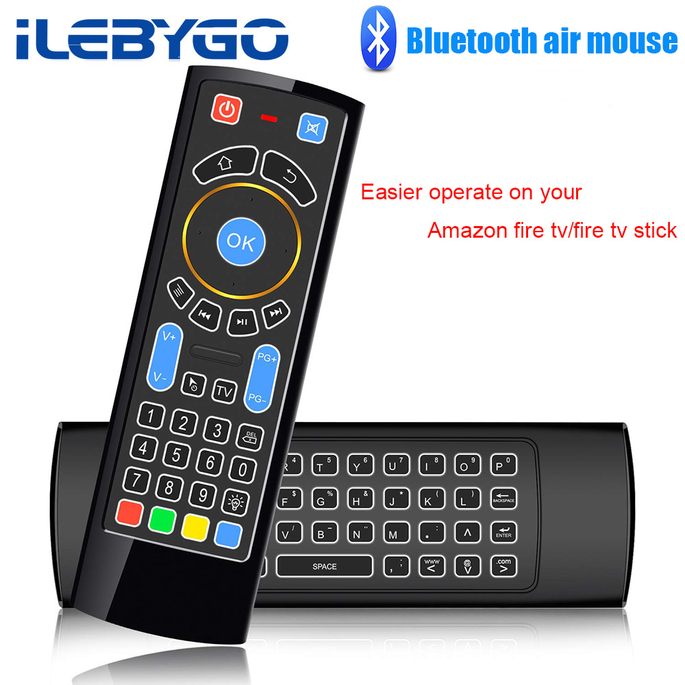 Bluetooth Mini Wireless keyboard Remote Control IR Air Mouse for Amazon Fire TV/Fire Stick/Android TV/mi box/PC/Raspberry pi 3(China)