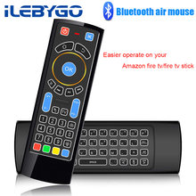 Mi ni do bluetooth teclado Sem Fio IR Controle Remoto Air Mouse para Amazon Fogo TV/Fogo Vara TV/Android /mi/caixa do PC/Raspberry pi 3(China)