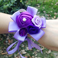 2017 Korean Bride Wedding Married Simulation Rose Flower Wrist Flower Bridesmaid Sisters Hand Flower Corsage Bride
