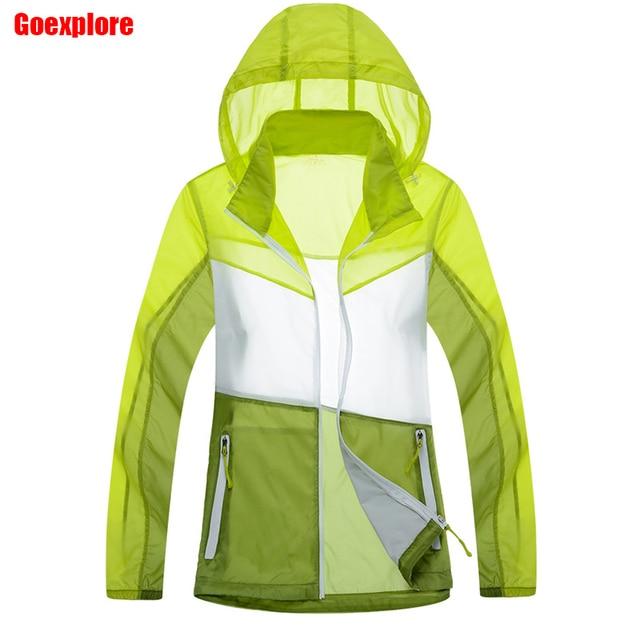 Dropshipping Women waterproof Skin jacket Outdoor Sun Protection ...