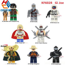 Building Blocks Super Heroes Gi Joe Series Matt with Junkyard Dog Sgt. Slaughter Storm Shadow Bricks Toys For Children KF6028(China)
