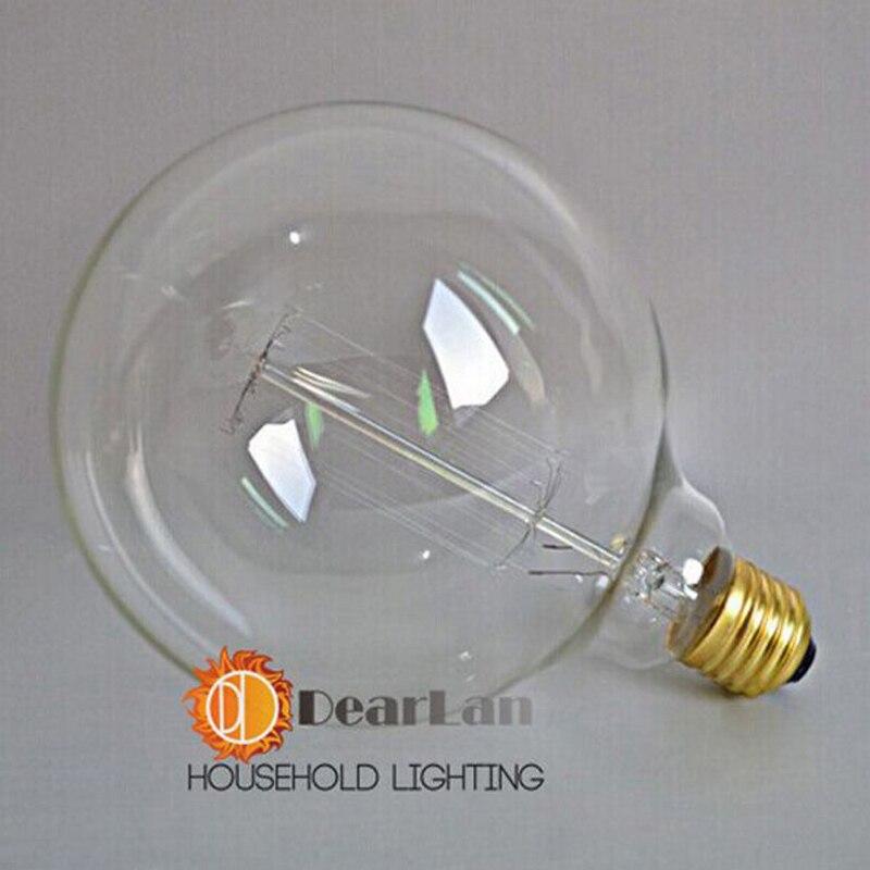 Lâmpadas Incandescentes g125 edison vintage luz lâmpada Temperatura de Cor : Branca Quente (2700-3500k)