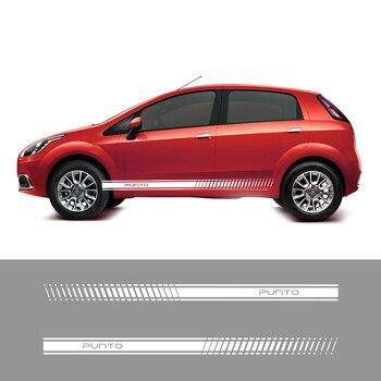 2 قطعة سباق الجانب المشارب سيارة الشارات ملصقات السيارات الفينيل الرسومات لشركة فيات بونتو Abarth