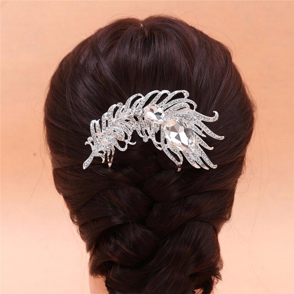 Wedding Vintage Style Hair Accessories: Vintage Bride Hair Accessories Metal Crystal Rhinestone