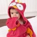 Colorido criança criança toalha de banho com capuz bonito tubarão coruja hipopótamo vermelho gato