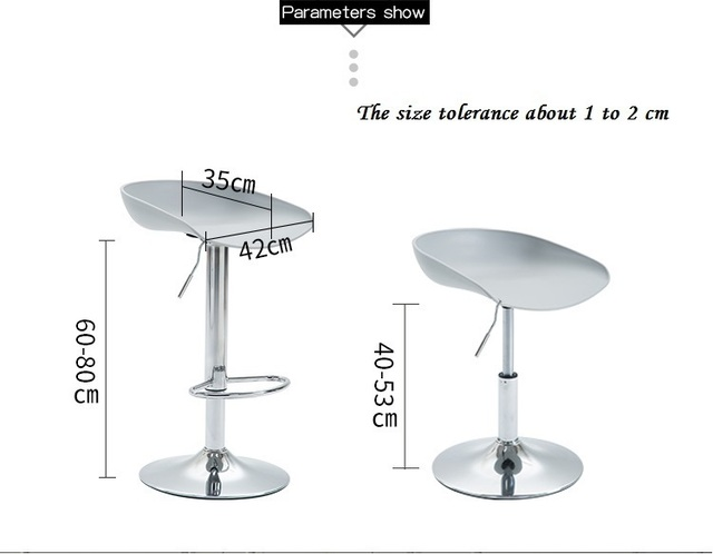 coffee house stool plastic PP seat warehouse office computer chair reading room lifting rotation chair free shipping
