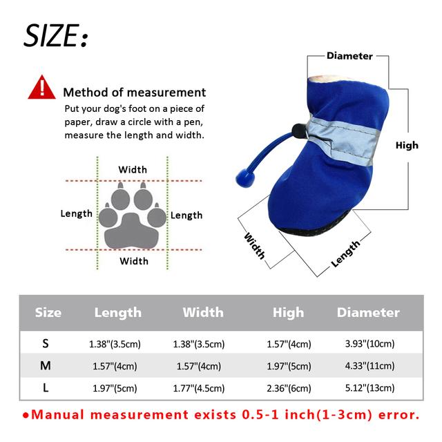 Dog Shoes Reflective Anti Slip Adjustable Sneaker