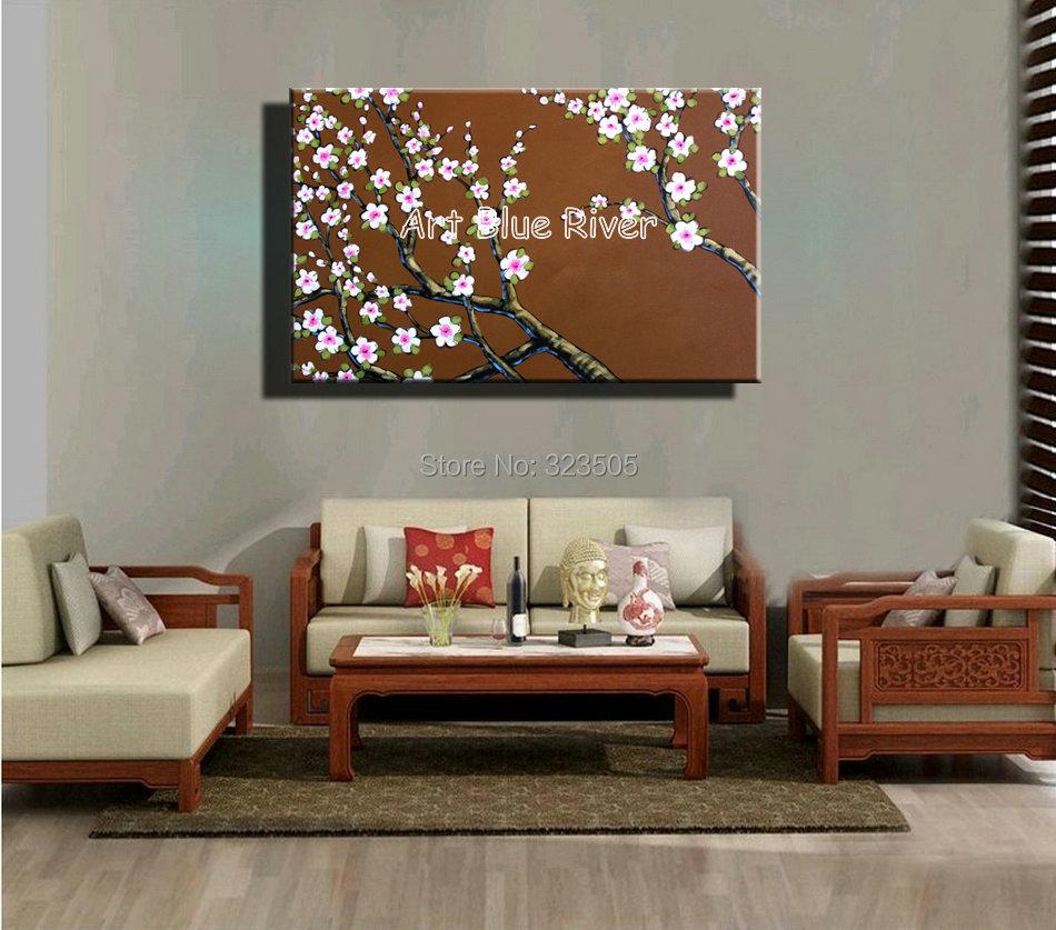 Modern Bedroom Art Aliexpresscom Buy Big Size White Cherry Blossom Abstract Modern
