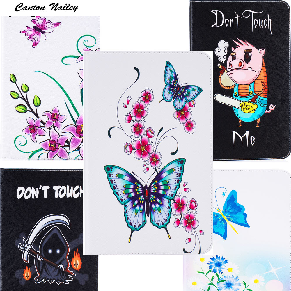 Canton Nalley Flowers Cartoon  PU Leather Stand Case For samsung galaxy tab A 10.1 T580 T585 SM-T580 SM-T585 tablet case +stylus canton nalley business smart stand pu leather tablet cover case for samsung galaxy tab a 10 1t585 t580 sm t580 screen stylus