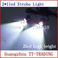 2 LED car Strobe light luz de advertência da motocicleta auto flash lâmpada de alta potência nevoeiro lâmpada DC 12 V BRANCO VERMELHO AZUL