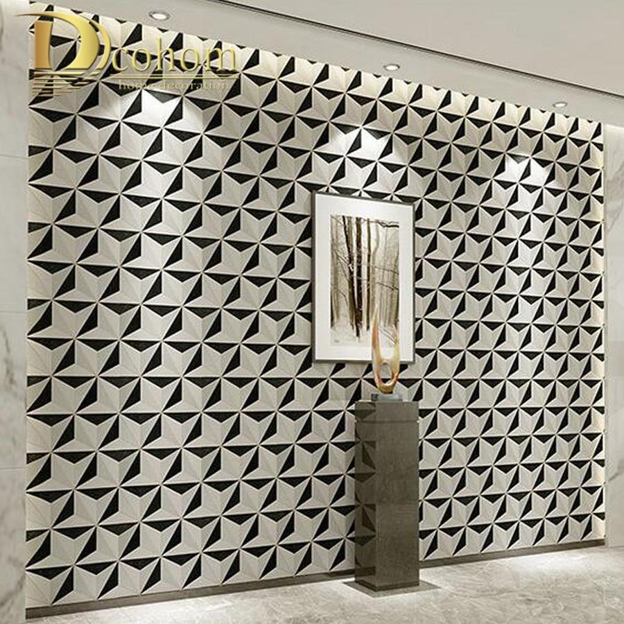Modern Design Geometric Wallpaper For Walls Roll Metallic