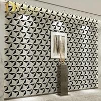 Modern Design Geometric Wallpaper For Walls Roll Metallic Triangle Pattern Vinyl Wall Paper For Bedroom Living Room