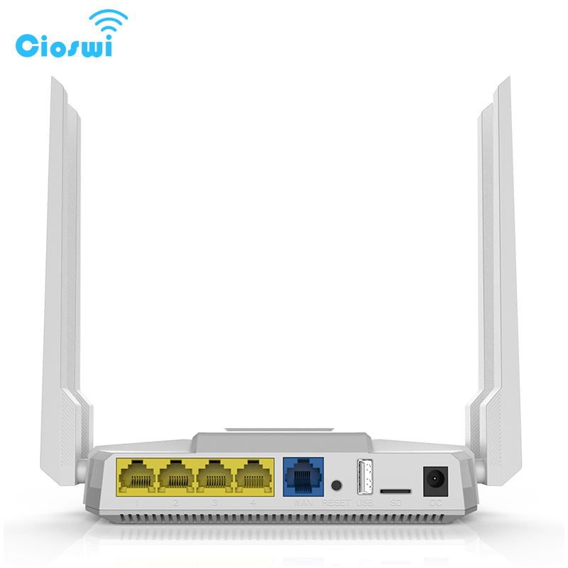Image 4 - 2.4g/5g wifi router with sim card slot ac1200Mbps dual band openWRT 512MB with 4*5dbi external antennas soho gigabit router-in Wireless Routers from Computer & Office