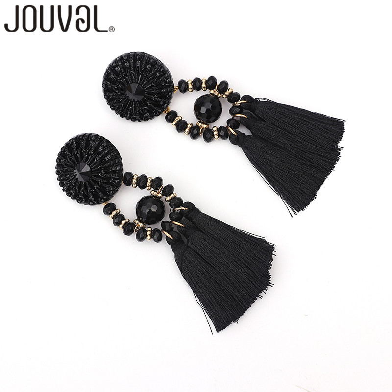Long Drop Dangle Fringe Earrings Vintage Women Tassel Earrings 9 Colors Boho Statement Brand Jewelry Female