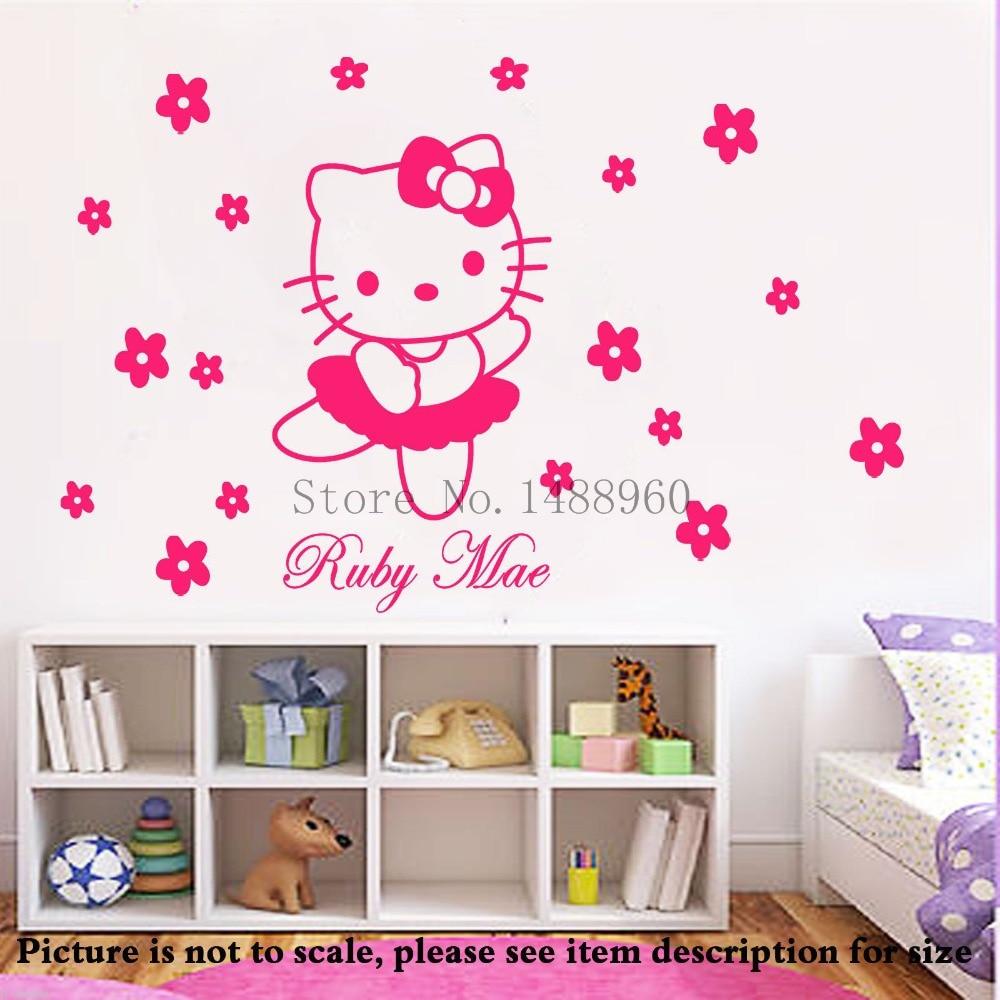 Kualitas Tinggi Hello Kitty Dinding Mural Beli Murah Hello Kitty