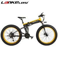 LANKELEISI 26 4 0 Fat Ebike 1000W Motor 48V10AH Folding Snow Electric Bicycle Mountain Bike 27