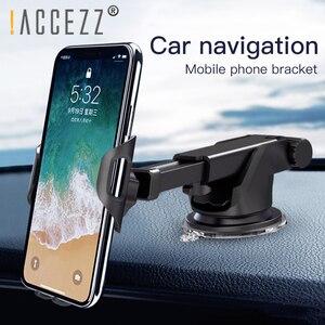 Image 2 - ! Автомобильный держатель телефона ACCEZZ для iPhone XS MAX XR Xiaomi Huawei 360, вращающийся держатель для приборной панели, лобового стекла