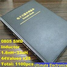 0805 SMD SMT Чип Индукторы Ассортимент Комплект 44 значения x25 Ассорти книга образцов