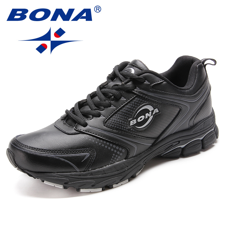 BONA New Style Men Running Shoes Lace Up Men Athletic Shoes Outdoor Jogging Sneakers Comfortable Light