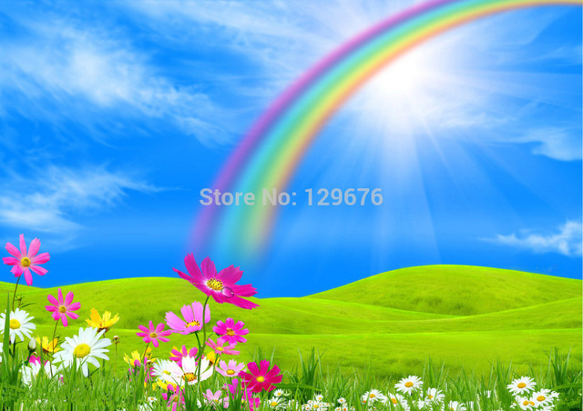shengyongbao 7x5ft rainbow theme art cloth custom photography