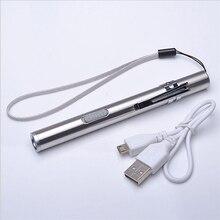 Зарядка От USB LED Фонарик Высокое Качество Мощный Мини Cree LED Torch XML Водонепроницаемый Pen Дизайн Висит С Металлическим Зажимом