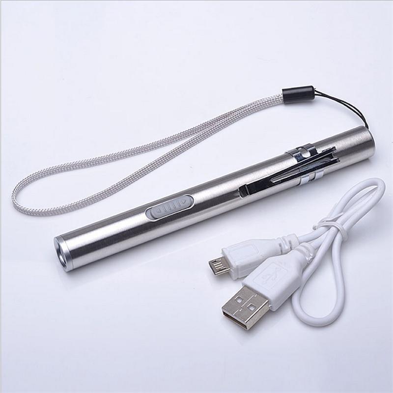 USB Перезаряжаемые светодиодный фонарик высококачественных мощный мини CREE светодиодный фонарик XML Водонепроницаемый Дизайн ручка висит с металлическим зажимом