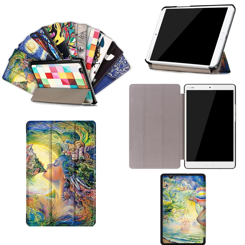 For Huawei Media Pad M3 8.4 Coque Cover Case Colorful Painting PU Leather Cases for Huawei Media Pad M3 8.4 inch Tablet Skin media ethics issues and cases