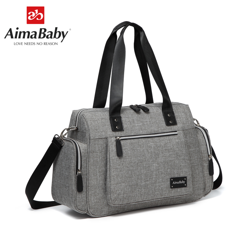 AIMABABY Large Multi function Unisex Messenger Baby Diaper Bag Nappy Changing Bag Changing Pad
