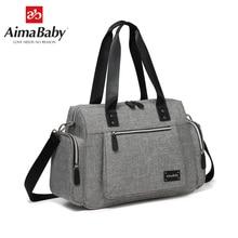 AIMABABY Große Multi funktion Unisex Messenger Baby Windel Tasche Windel Ändern Tasche + Ändern Pad