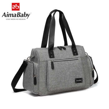 AIMABABY Large Multi-function Unisex Messenger Baby Diaper Bag Nappy Changing Bag+Changing Pad - DISCOUNT ITEM  33% OFF All Category