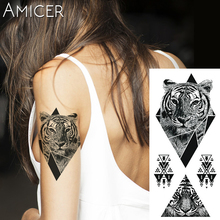 1 piece Fantasy Color tiger roar Hot Large animal Temporary Tattoo Waterproof Tattoo Sticker for women men