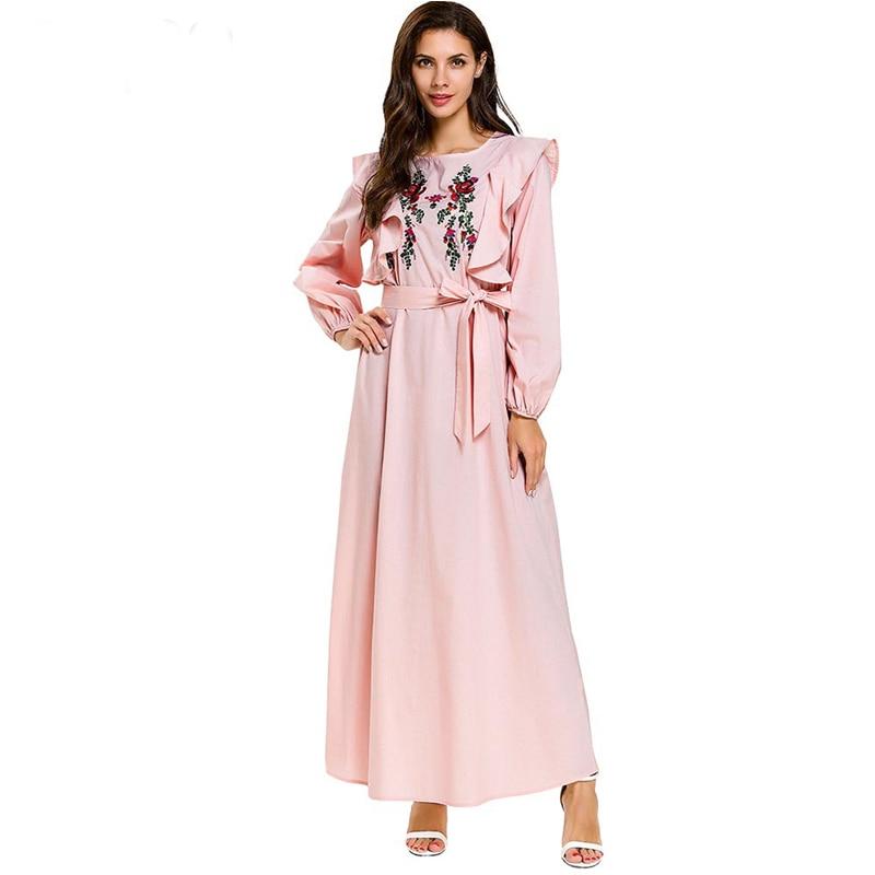 Vestido Robe Femme Musulmane Longue 2019 Abaya Caftan Dubai Arabe Islamic Kaftan Dress Women Elbise Sukienki Ramadan Eid Dresses