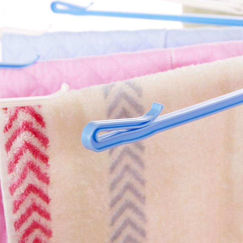 1PC-Towel-Hanger-Umbrella-Plastic-Drying-Rack-For-Underwear-Wardrobe-Accessories-20-Clip-Rotate-The-Windbreak (3)