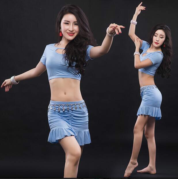 Sexy font b Women b font Soft Belly Dance Costume Oriental Dancing Training Clothing Top font
