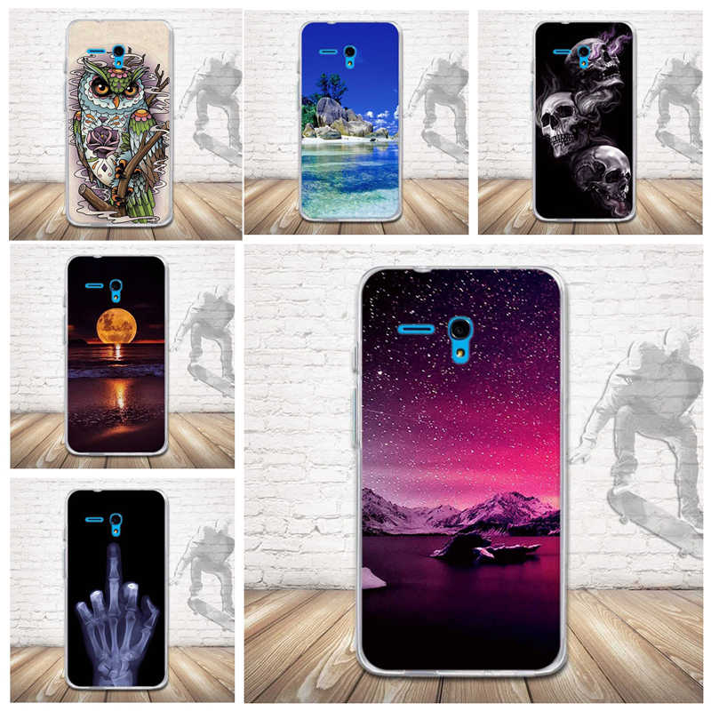 Luxury 3D Releif Print Back Cover For Alcatel One Touch Fierce XL 5054 Case Phone Case Silicon Soft TPU Cover for Alcatel 5054D