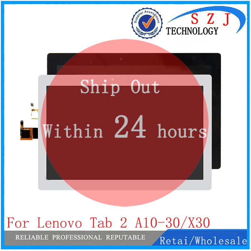 New 10.1 Inch Tablet For Lenovo Tab 2 A10-30 YT3-X30 X30F TB2-X30F X30 Replacement LCD Display Touch Screen Panel Assembly