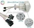 60mm 12 LEDs/18 LEDs pontos rgb led pixel luz passeio de parque de Diversões, Roda gigante parque de diversões levou luz